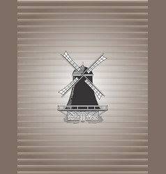 Background with windmill vector
