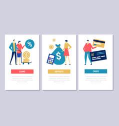 Bank operations - flat design style conceptual web vector