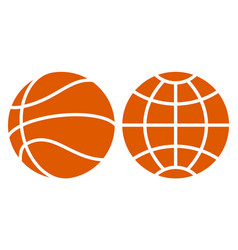 basketball and globe vector image