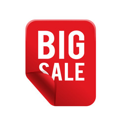 big sale red square frame banner image vector image