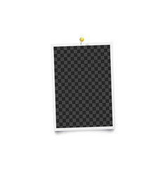 blank photo frame on a wall 3d realistic mockup vector image