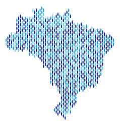 brazil map population demographics vector image