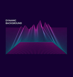 Bright poster with dynamic waves vector