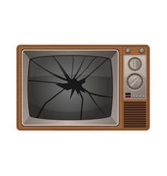 Broken tv vector