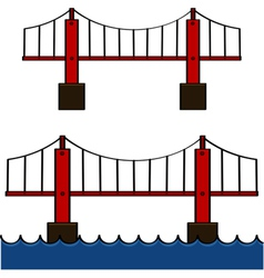 Cartoon bridge vector