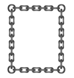 Chain letter O vector