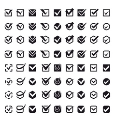 Check vote icons set vector