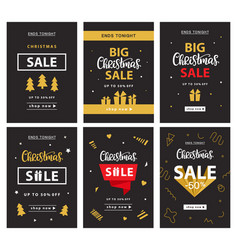 Christmas sale banner template design vector