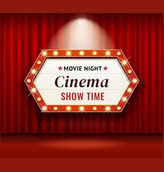 cinema theater frame retro vector image