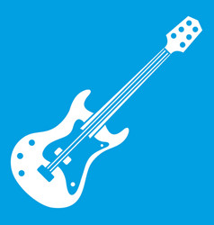 Classical electric guitar icon white vector
