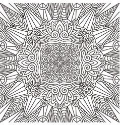 Coloring book page design vector