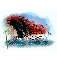 Crows and dandelion vector image vector image