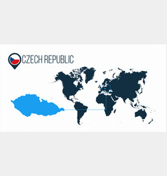 Czech republic location on the world map for vector