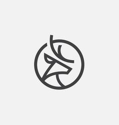 deer logo icon circular icon vector image