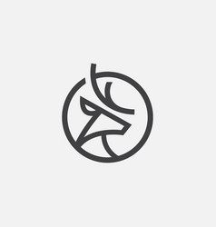 deer logo icon deer circular icon vector image