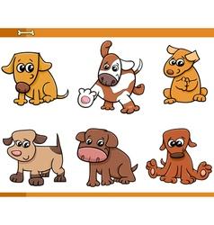 dog characters cartoon set vector image