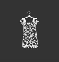 dress silhouette vector image
