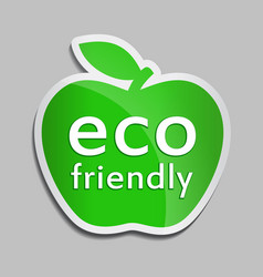 eco friendly logo in green apple vector image