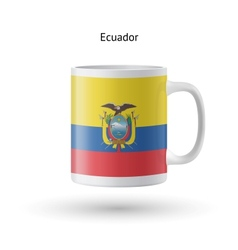 Ecuador flag souvenir mug on white background vector