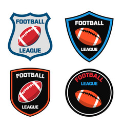 emblem design with american football ball icon vector image