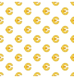 Euro currency symbol pattern cartoon style vector image