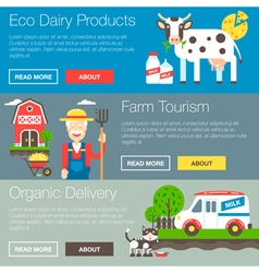 Farm Organic Banners vector image