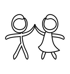 figure of couple icon vector image