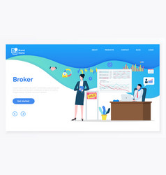 finance technology broker professional vector image