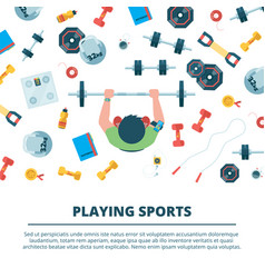 fitness background sport concept vector image