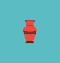 Flat icon vase element of vector