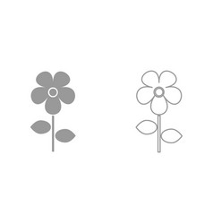 flower it is black icon vector image