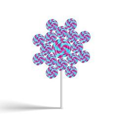 Flower lollypop vector