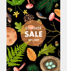 forest sale realistic poster vector image
