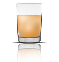 full glass mockup realistic style vector image