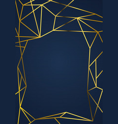 Golden luxurious wireframe abstract vintage card vector