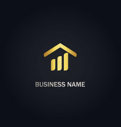 Home realty business gold logo vector