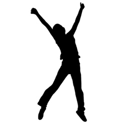 jumping silhouette vector image