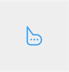 Letter b chat talk logo template design vector