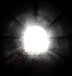 Light at end of tunnel vector image