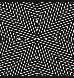 linear monochrome geometric seamless pattern vector image