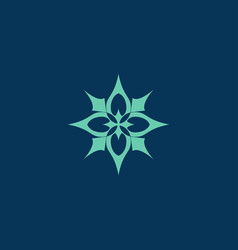 lotus spa logolotus logospa logo logo template vector image