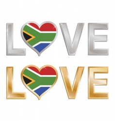 love south Africa sign vector image