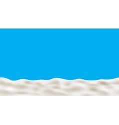 Milk cream paint yogurt on blue back vector