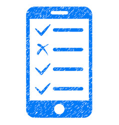 Mobile checklist icon grunge watermark vector
