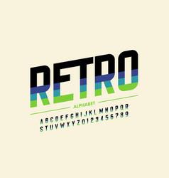 Modern retro style font design vector