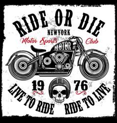 Motorcycle club vintage skull tee graphic design vector