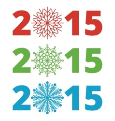 New year 2015 lettering vector image