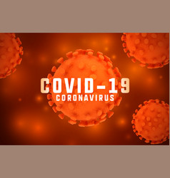 Novel corona virus covid19 outbreak background vector