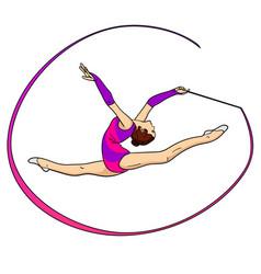 Object on white background rhythmic gymnastics vector