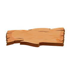 Old blank wooden signboard wood plank with place vector
